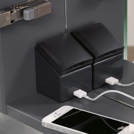 Geberit Universal Steckdose mit USB-Anschluss für Hoch- und Seitenschränke mit Tür