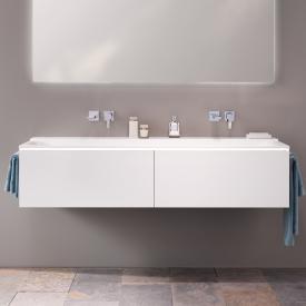 Geberit Xeno² Waschtischunterschrank mit 2 Auszügen Front weiß matt / Korpus weiß matt
