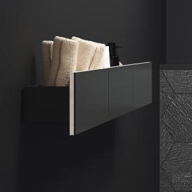 Keramag Acanto Wand-Board Front schwarz/Korpus schwarz matt