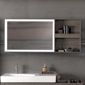 Keramag Citterio Lichtspiegelelement mit Ablagefach graubraun/verspiegelt