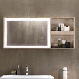 Keramag Citterio Lichtspiegelelement mit Ablagefach naturbeige/verspiegelt