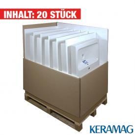 Keramag iCon Waschtisch, 16 Stück weiß mit KeraTect