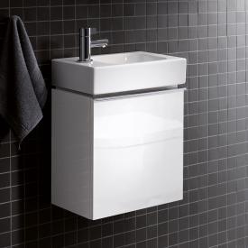 Keramag iCon xs Handwaschbecken-Unterschrank mit 1 Tür Front und Korpus Alpin hochglanz