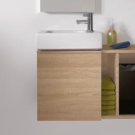 Keramag iCon xs Handwaschbecken-Unterschrank mit 1 Tür Front und Korpus Holzstruktur eiche natur