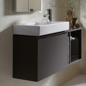 Keramag iCon xs Handwaschbecken-Unterschrank mit 1 Auszug Front und Korpus lava matt