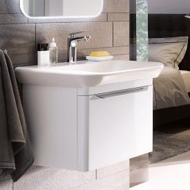 Keramag myDay Waschtischunterschrank mit 1 Auszug Front und Korpus weiß hochglanz