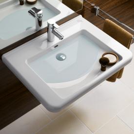 Keramag Renova Nr. 1 Comfort Waschtisch weiß, mit 1 Hahnloch, mit Überlauf