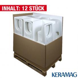 Keramag Renova Nr.1 Plan Tiefspül-WC Neu, wandhängend L: 54 B: 36 cm, 12 Stück weiß