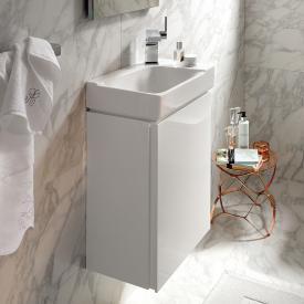 Keramag Xeno² Handwaschbecken-Unterschrank mit 1 Tür Front weiß hochglanz/Korpus weiß hochglanz