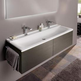 Keramag Xeno² Waschtischunterschrank mit 2 Auszügen Front scultura grau matt / Korpus scultura grau matt