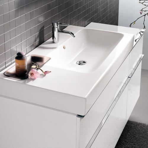 keramag icon waschtisch mit dekoschale wei 124195000 reuter. Black Bedroom Furniture Sets. Home Design Ideas