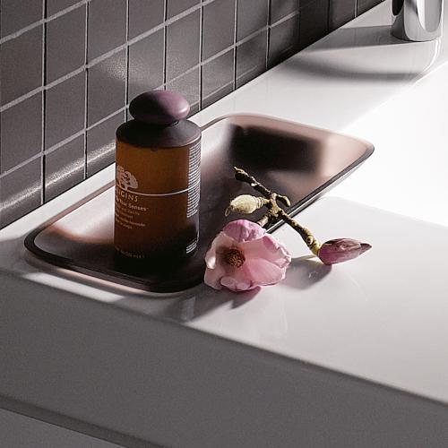 keramag icon waschtisch mit dekoschale wei mit keratect 124195600 reuter. Black Bedroom Furniture Sets. Home Design Ideas