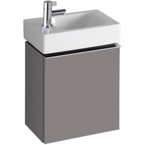 keramag icon xs handwaschbecken unterschrank mit 1 t r front und korpus platin hochglanz. Black Bedroom Furniture Sets. Home Design Ideas