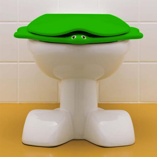 keramag kind wc sitz im tierdesign mit deckel gr n ohne absenkautomatik soft close 573361000. Black Bedroom Furniture Sets. Home Design Ideas
