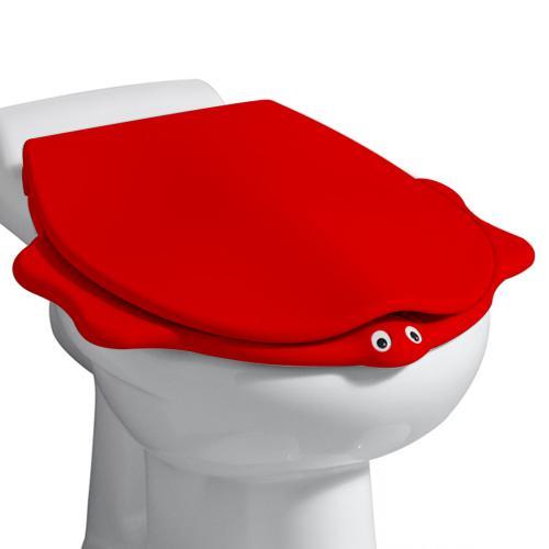 keramag kind wc sitz im tierdesign mit deckel rot mit absenkautomatik soft close 573368000. Black Bedroom Furniture Sets. Home Design Ideas