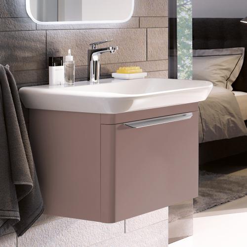keramag myday waschtischunterschrank mit 1 auszug front und korpus taupe hochglanz y824081000. Black Bedroom Furniture Sets. Home Design Ideas