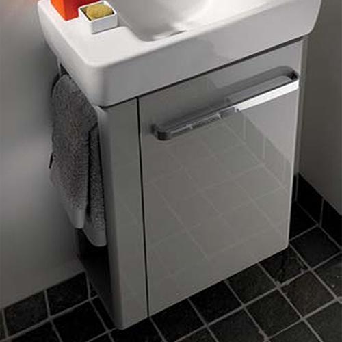 keramag renova nr 1 comprimo wt unterschrank mit handtuchhalter front hellgrau hochglanz. Black Bedroom Furniture Sets. Home Design Ideas