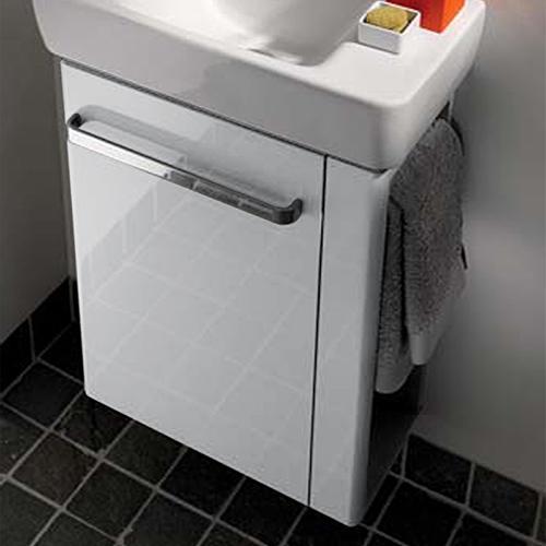 keramag renova nr 1 comprimo wt unterschrank mit handtuchhalter front wei hochglanz korpus. Black Bedroom Furniture Sets. Home Design Ideas