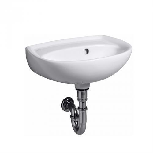 keramag renova nr 1 handwaschbecken wei mit keratect ohne hahnloch mit berlauf 273048600. Black Bedroom Furniture Sets. Home Design Ideas