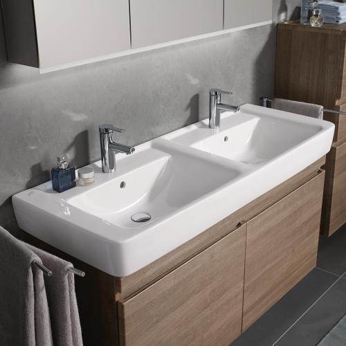 Doppelwaschtisch keramag  Keramag Renova Nr. 1 Plan Doppelwaschtisch weiß - 122130000 | REUTER