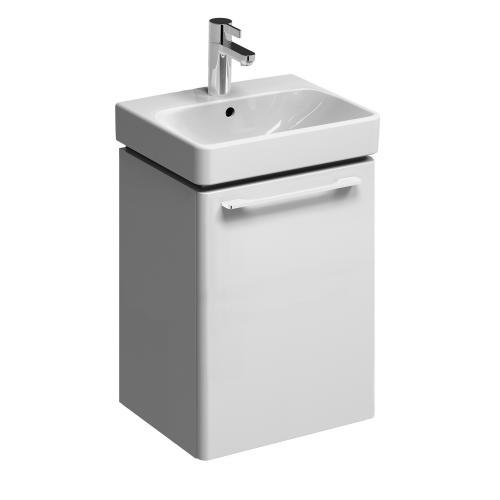 keramag smyle handwaschbecken unterschrank front und korpus wei hochglanz 805040000 reuter. Black Bedroom Furniture Sets. Home Design Ideas