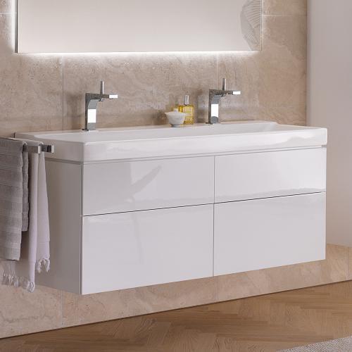 keramag xeno waschtisch wei mit keratect mit 2 hahnl chern 127025600 reuter. Black Bedroom Furniture Sets. Home Design Ideas