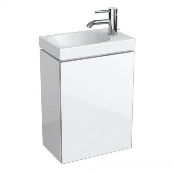 Geberit Acanto Handwaschbeckenunterschrank mit 1 Tür Front weiß/Korpus weiß hochglanz