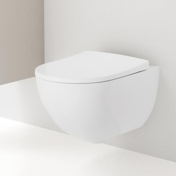 Geberit Acanto Wand-Tiefspül-WC ohne Spülrand weiß, mit KeraTect