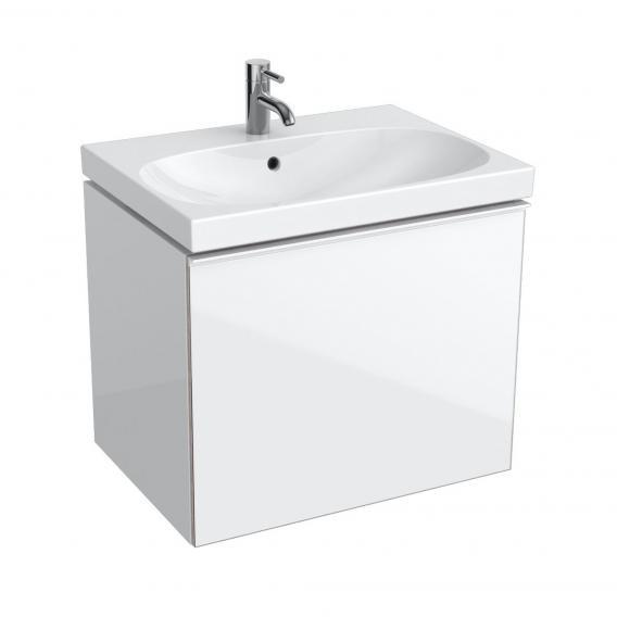 Geberit Acanto Waschtischunterschrank Compact, 1 Auszug Front weiß/Korpus weiß hochglanz