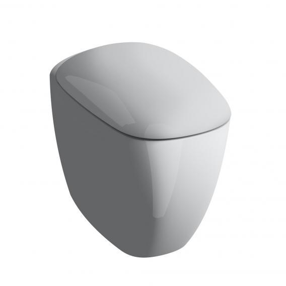 Geberit Citterio Stand-Tiefspül-WC ohne Spülrand weiß, mit KeraTect