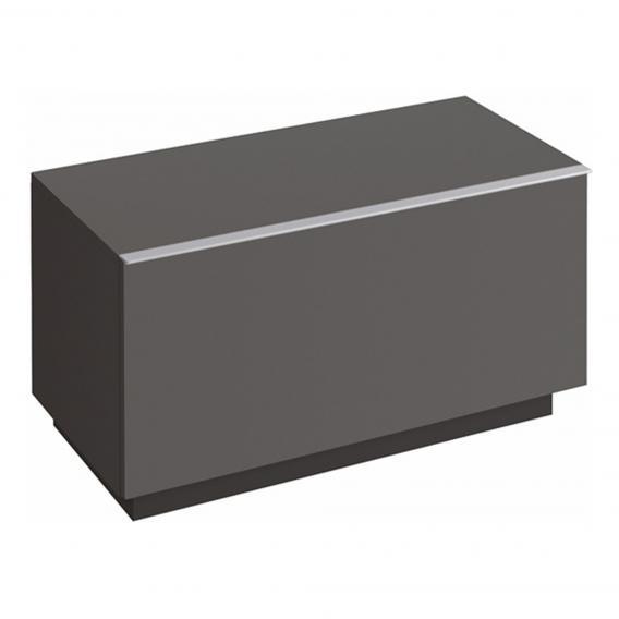Geberit iCon Seitenschrank mit 1 Auszug Front lava matt/Korpus lava matt