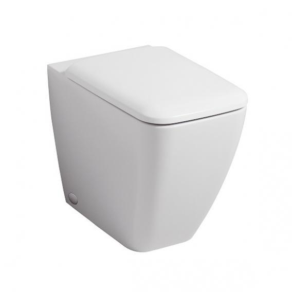Geberit iCon Square Stand-Tiefspül-WC ohne Spülrand weiß, mit KeraTect