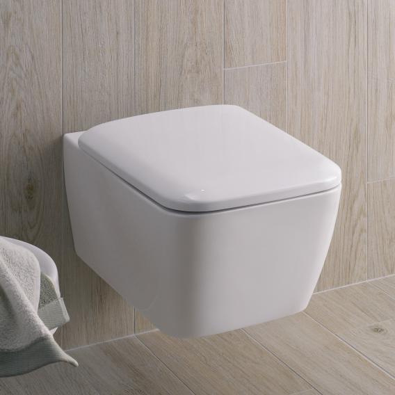 Geberit iCon Square Wand-Tiefspül-WC ohne Spülrand weiß, mit KeraTect