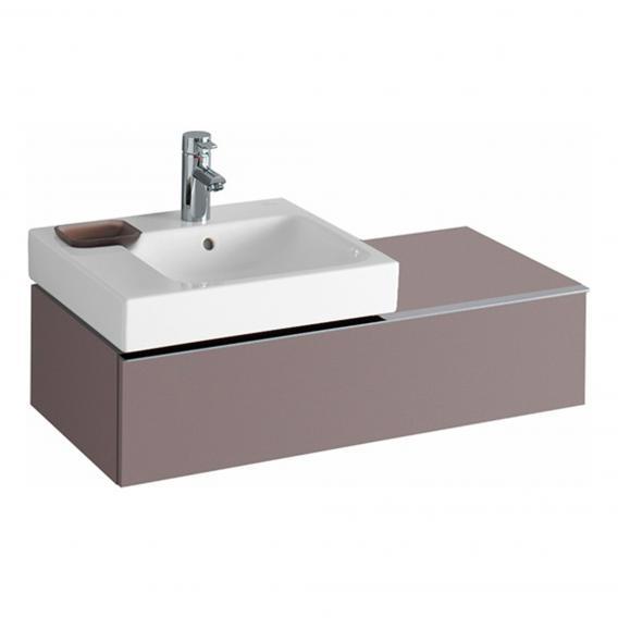 Geberit iCon Waschtischunterschrank mit 1 Auszug Front platin hochglanz / Korpus platin hochglanz