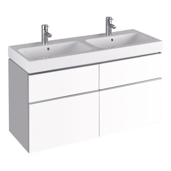 Geberit iCon Waschtischunterschrank mit 4 Auszügen für Doppelwaschtisch Front alpin matt/Korpus alpin matt