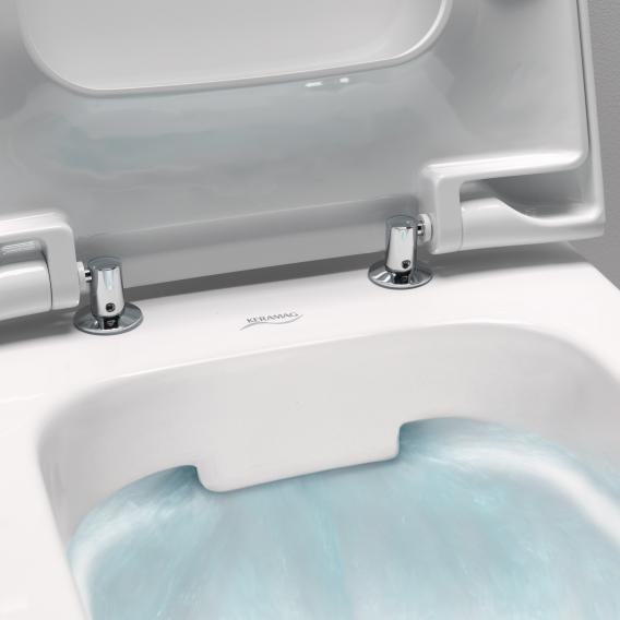 Geberit myDay Wand-Tiefspül-WC ohne Spülrand weiß, mit KeraTect