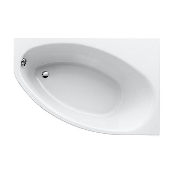 Geberit Renova Asymmetrische Eck-Badewanne weiß