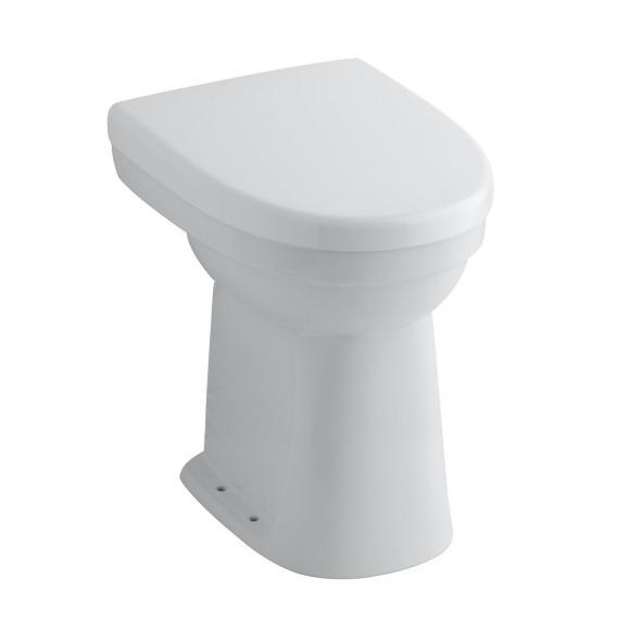 Geberit Renova Comfort Stand-Flachspül-WC, Ausführung erhöht 49 cm Abgang waagerecht, weiß, mit KeraTect