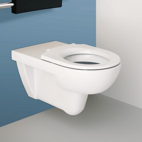 Geberit Renova Comfort Wand-Tiefspül-WC mit Spülrand, weiß, mit KeraTect