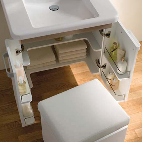 Geberit Renova Comfort Zwischenboden 2er Set mit Ausschnitt, unterfahrbar B:63cm