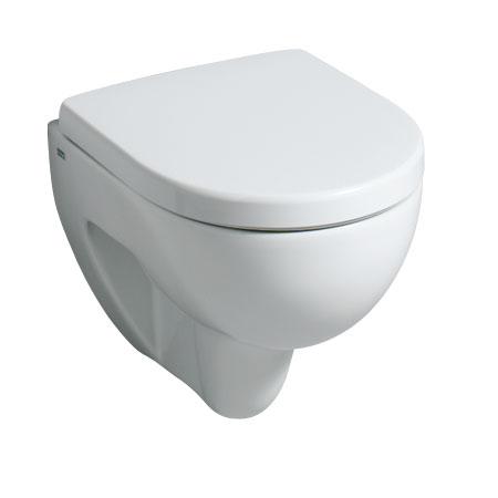 Geberit Renova Compact Wand-Tiefspül-WC weiß, mit KeraTect