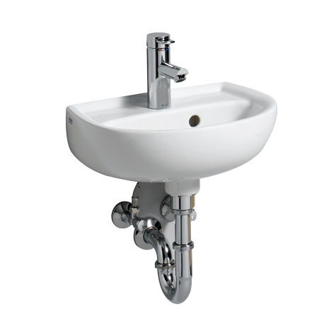 Geberit Renova Handwaschbecken weiß, mit 1 Hachnloch, mit Überlauf