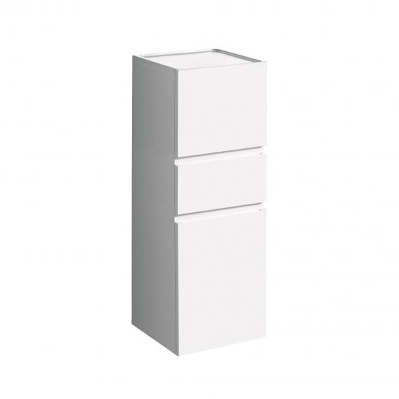 Geberit Renova Plan Halbhochschrank mit 2 Türen und 1 Auszug Front und Korpus weiß hochglanz