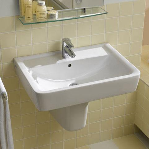 Geberit Renova Plan Halbsäule für Waschtisch weiß