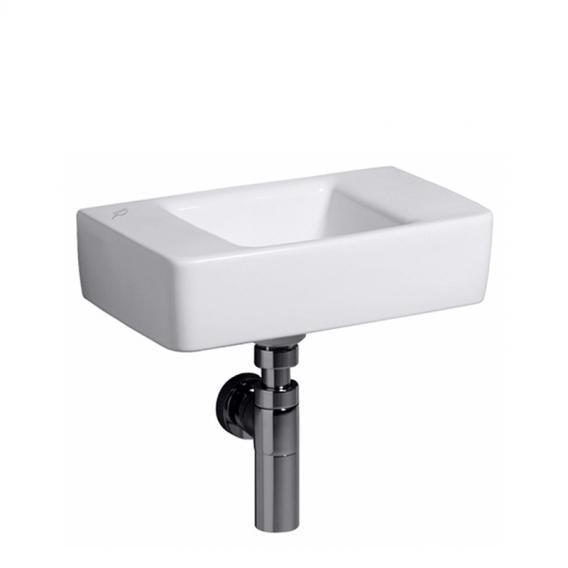 Geberit Renova Plan Handwaschbecken weiß, ohne Hahnloch, ohne Überlauf