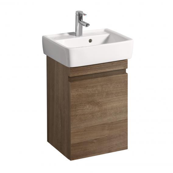 Geberit Renova Plan Handwaschbecken-Unterschrank Front und Korpus eiche natur dunkel