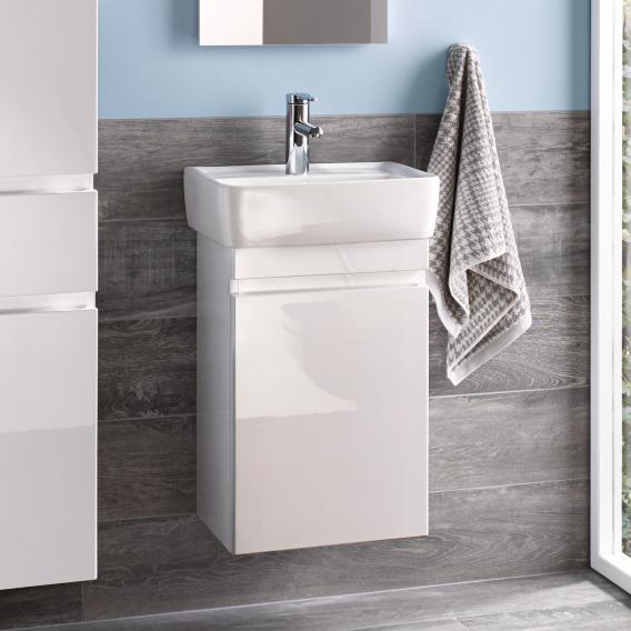 Geberit Renova Plan Handwaschbeckenunterschrank mit 1 Tür Front und Korpus weiß hochglanz