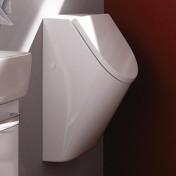 Geberit Renova Plan Urinal, Zulauf hinten mit Deckel, weiß mit KeraTect
