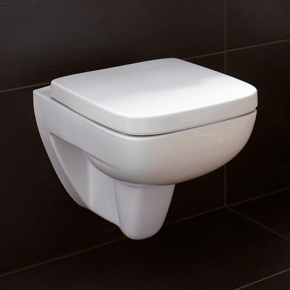 Geberit Renova Plan Wand-Tiefspül-WC ohne Spülrand, weiß, mit KeraTect