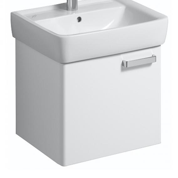 Geberit Renova Plan Waschtischunterschrank Korpus weiß Front weiß hochglanz